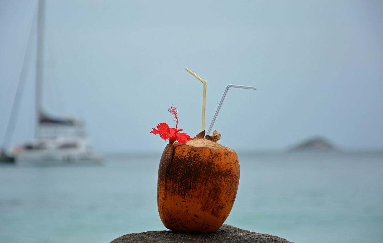 kokos a moře
